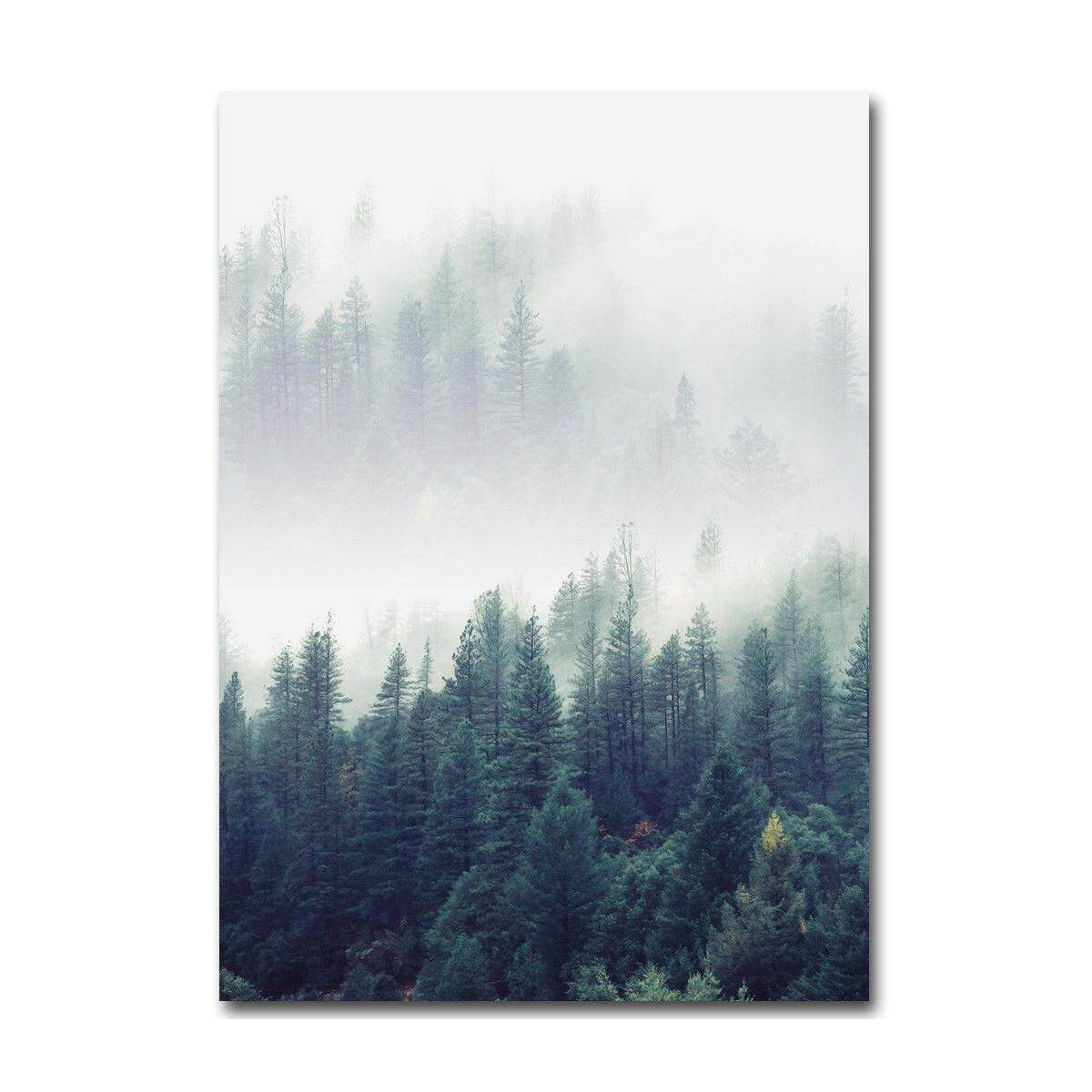 Nordic Style Forest Landscape Wall Art Canvas Poster Prints Home Decoration # 21*30cm
