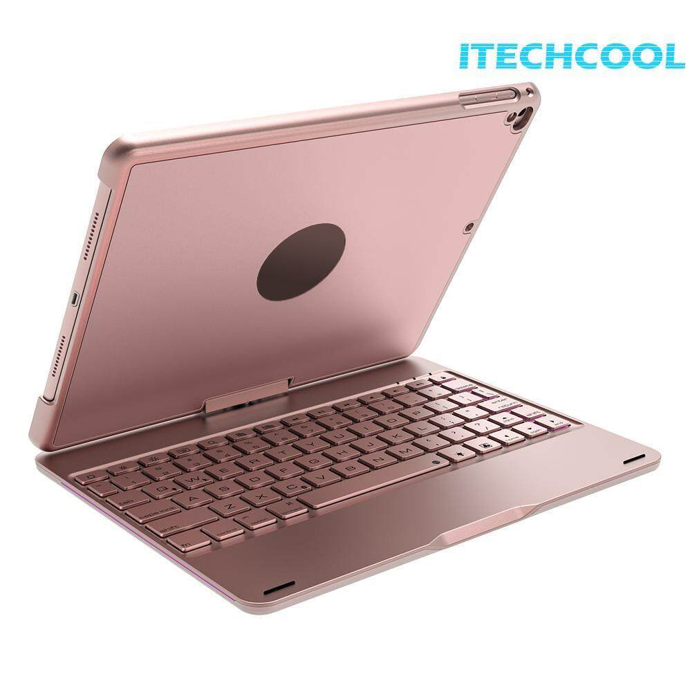 "(Free shipping)360 Rotating Back Case Cover Bluetooth Backlight Keyboard New iPad 9.7"" Air"