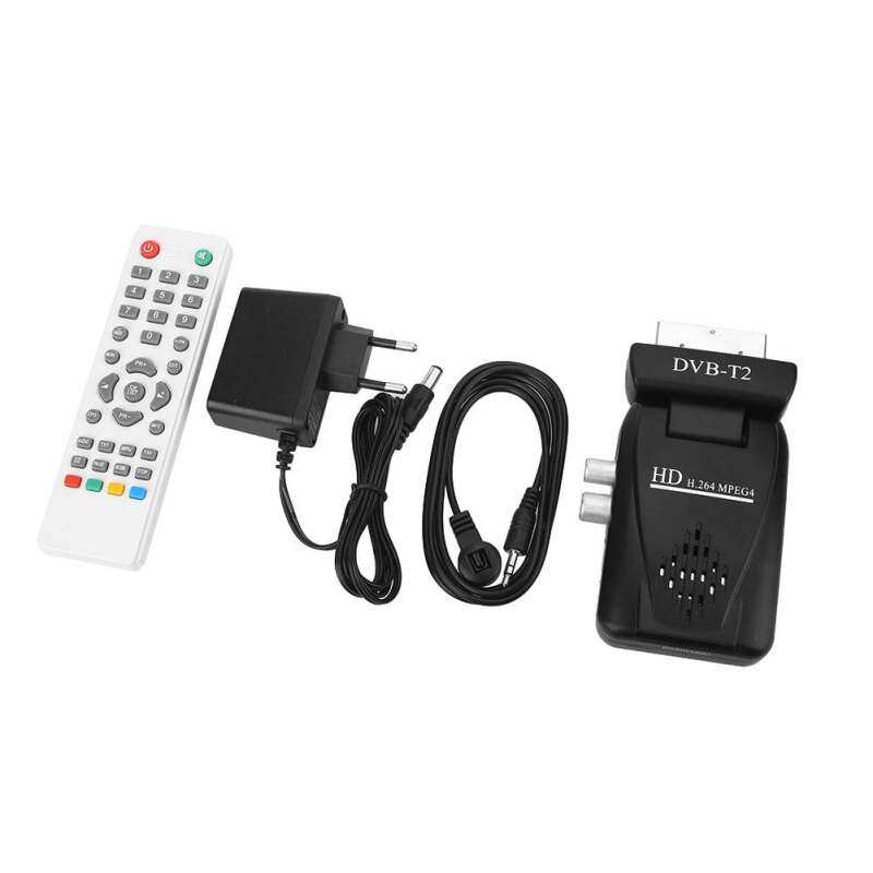 DVB-T2 H.264 HD 1080P SCART Terrestrial Receiver TV Box USB IR with Antenna
