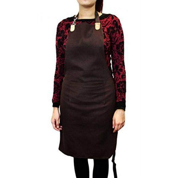 Haryali London Brown Adjustable Unisex Apron Perfect for all kind of use. Made with 100% Canvas.