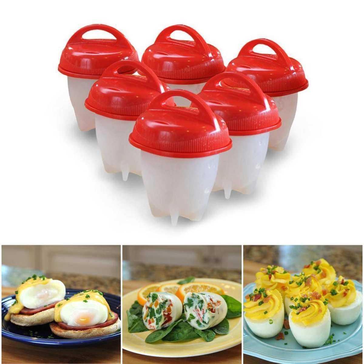 Rp 364.485. Leegoal Alat Masak Telur Keras Lembut Pembuat Alat Masak Telur Memasak Keras Merebus Telur Tanpa Steamer Silikon ...