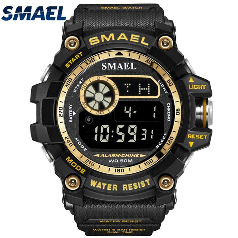 SMAEL Men's Watches Sport Casual LED Digital Watch Top Brand Luxury Waterproof Military Electronic Watch Men Clock - intl