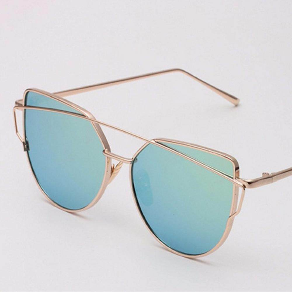 New Cat Eye Women Sunglasses Europe And The United States Style With Metal Color Film And Vintage