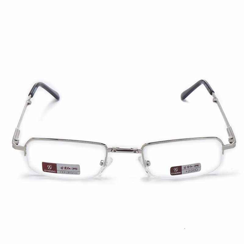 150 degree men s and women s collapsible light and reading frame glasses health case ultra metal
