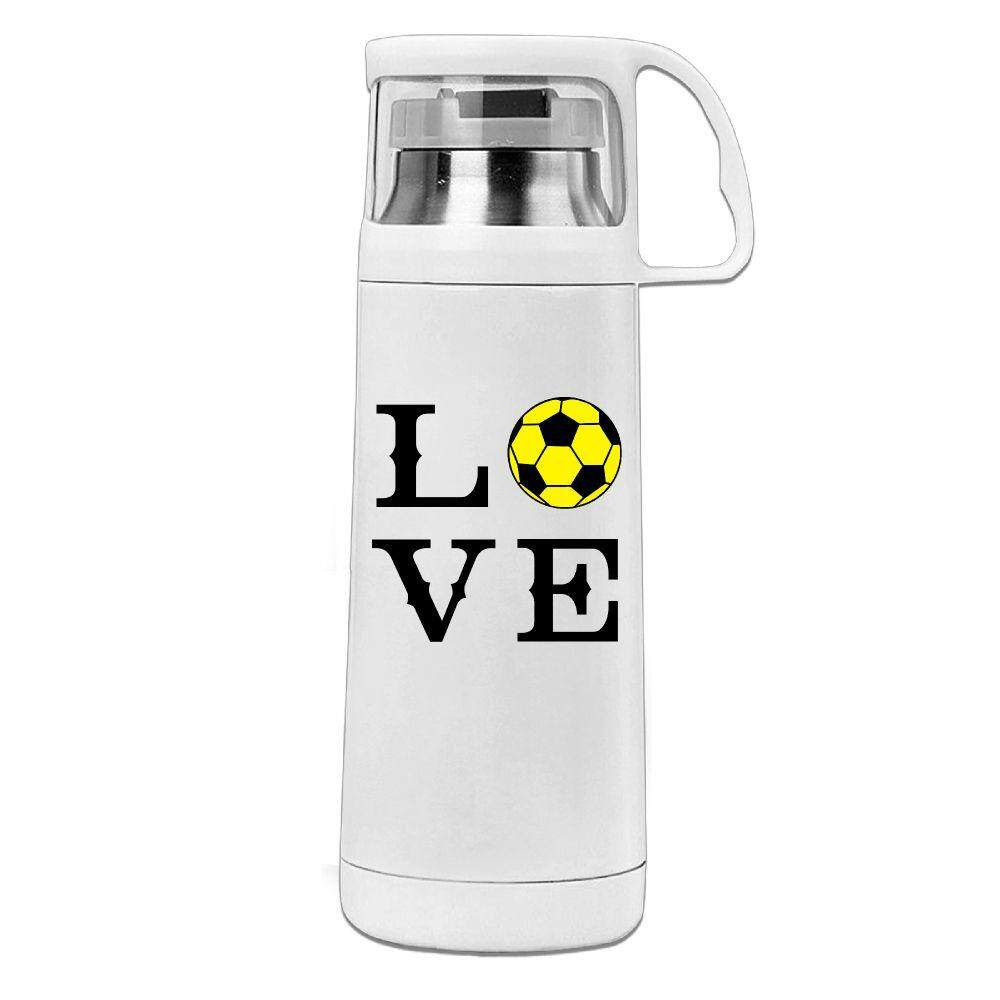 Darr Soccer LoveHAERS Office Cup Men Women Business Cup Stainless Steel Vacuum Cup With Lid Water Bottle