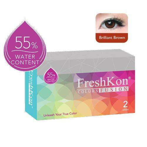 Freshkon Color Fusion (Monthly) Brilliant Brown -1.50
