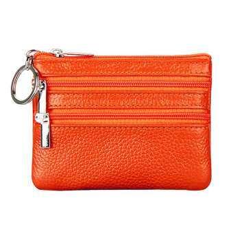 FashionDoor กระเป๋าเงินขนาดเล็กเปลี่ยนกระเป๋าสตางค์ผู้หญิงพวงกุญแจแบบกระเป๋าซิปขนาดมินิกระเป๋าสตางค์ใส่เหรียญ-