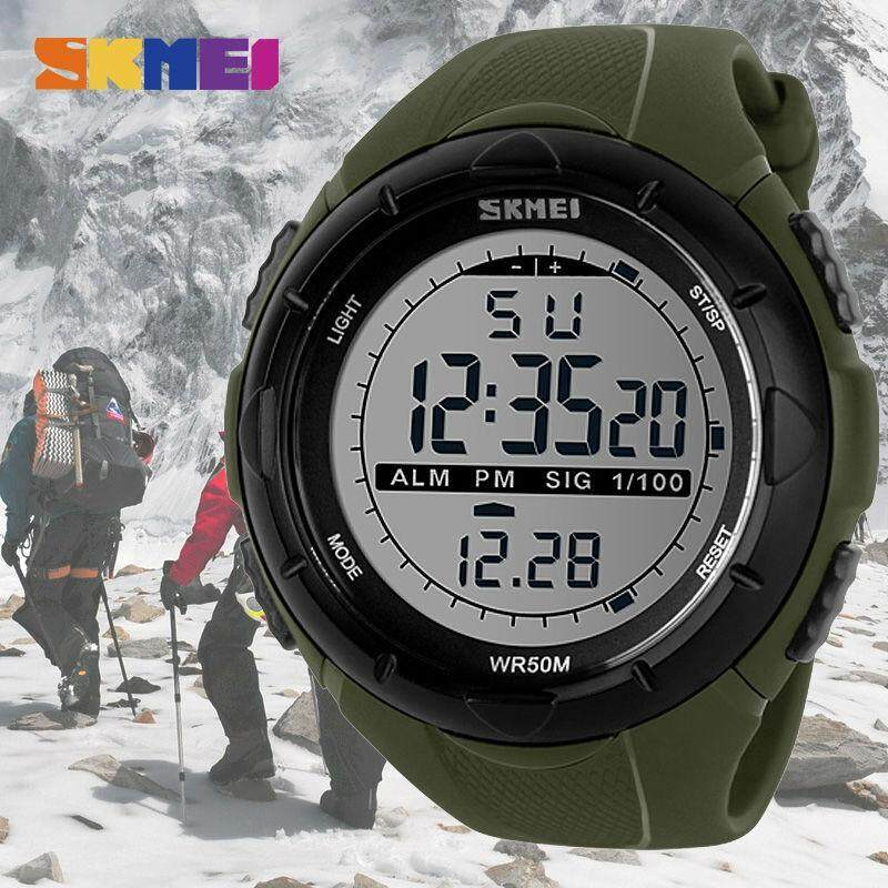 NEW SKMEI 1025 Men Sports Watches Digital Military Watch Large Dial Alarm Chrono Waterproof Wristwatches Malaysia