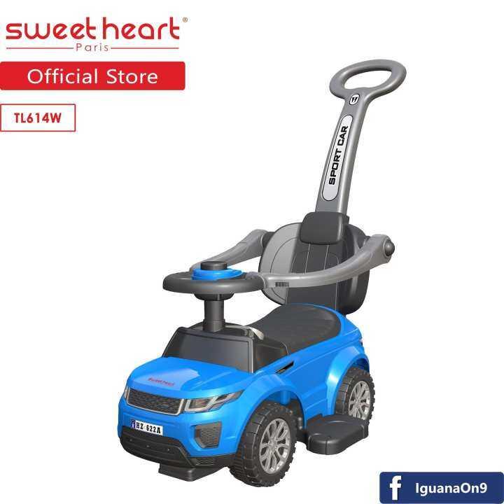 sweet heart paris tl614w 3 in 1 walker riding stroller ride on car blue lazada. Black Bedroom Furniture Sets. Home Design Ideas