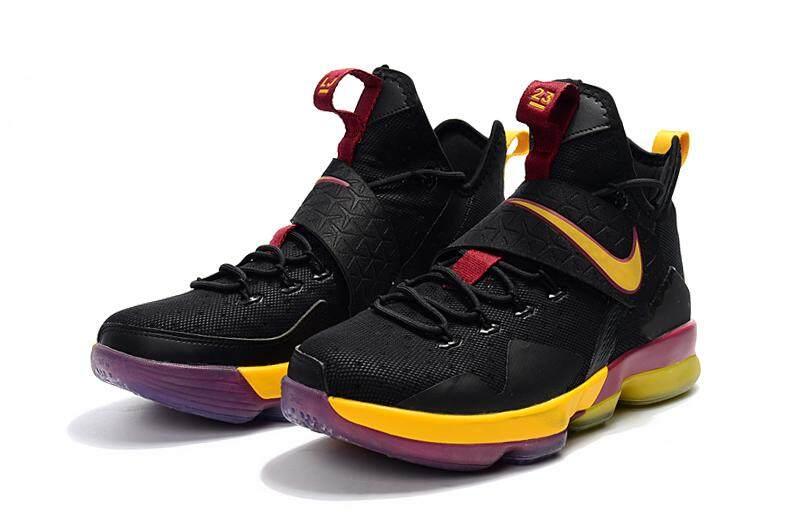 the latest a0058 e1910 Nike Mens Lebron 14 XIV Basketball Shoe Breathable Sports Shoes(Black/Yellow )