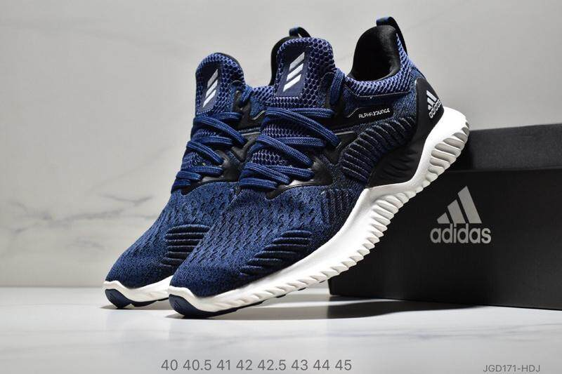 e61c55f66 Adidas AlphaBounce HPC AMS 3M Men s Running Shoe Lightweight Sport Sneakers  (Black Blue)