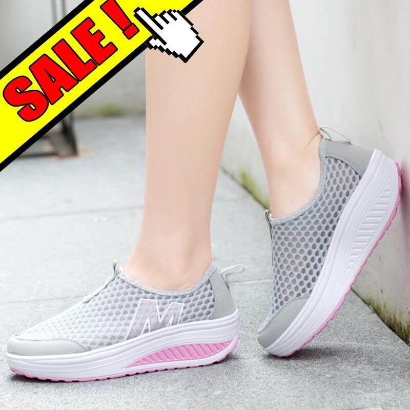 Yealon Sneakers untuk Menambah Tinggi Sepatu Wedge untuk Wanita Sepatu  Platform Olahraga Lari Wanita Sepatu Bersol 3d2c301f5f