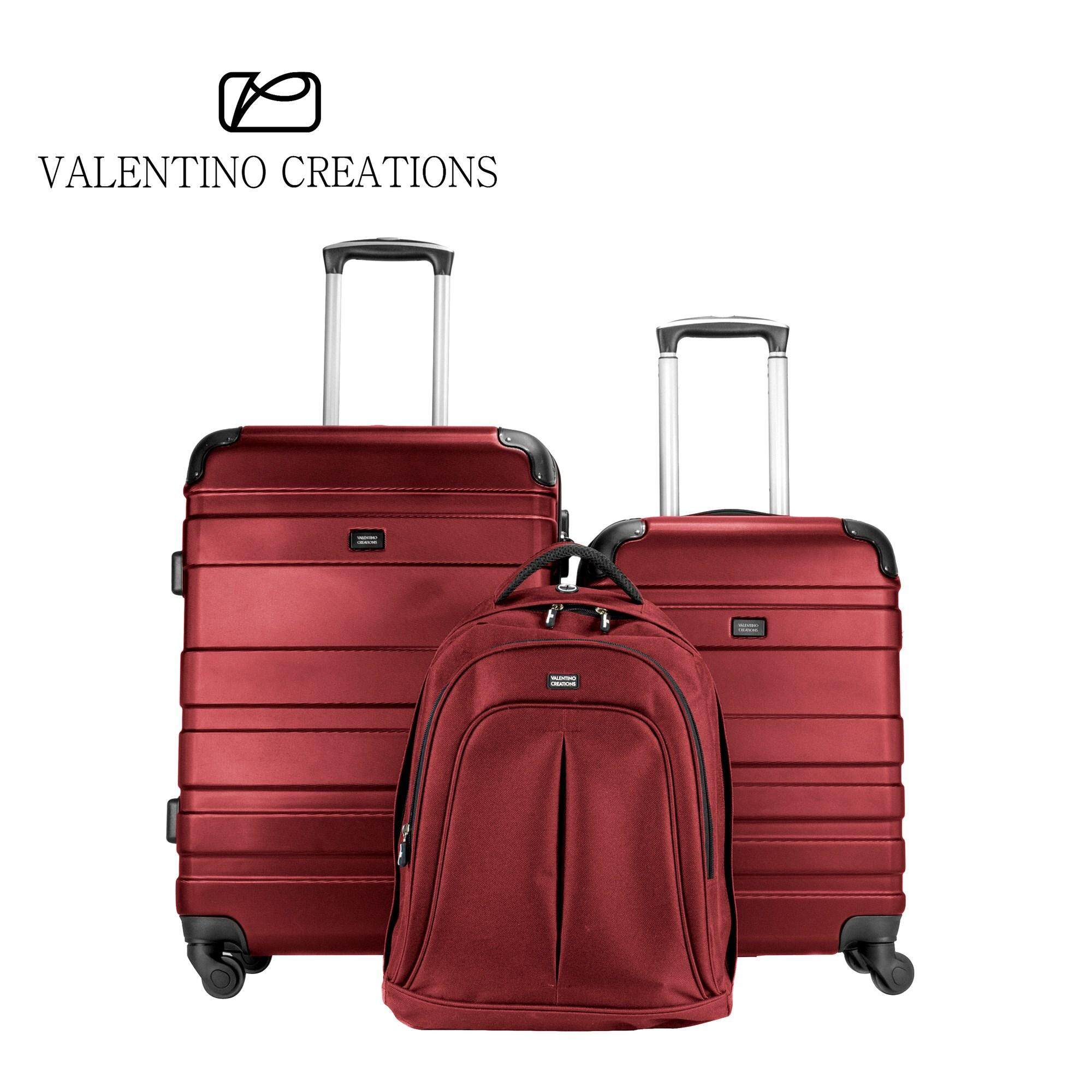 """Valentino Creations Bobcat III 2-In-1 Luggage Set (20""""+24"""") + Free Backpack (Limited Quantity)"""