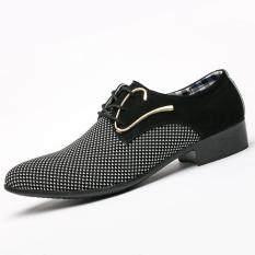 Brand WHITBY 2019 Áo Đầm Giày Công Việc Làm Mềm Bằng Sáng Chế Da Mũi Nhọn Người Nam nam Oxford Đế Bằng