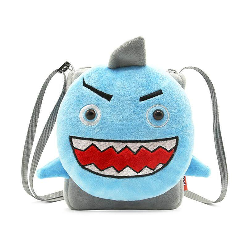 Animal Shark Children Satchel Cute Cartoon Single Shoulder Bag Girl Bag Cartoon Mobile Phone Bag Factory Direct Supply.