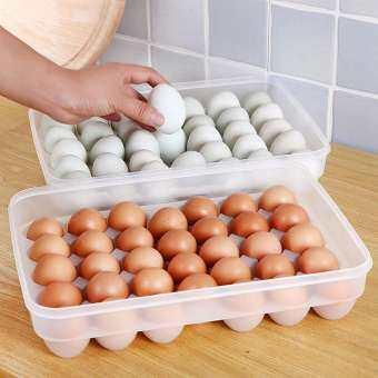 Organizer Refrigerator Food Dumplings Eggs Airtight Storage Box Container Plastic Boxes 1-tier รีวิว