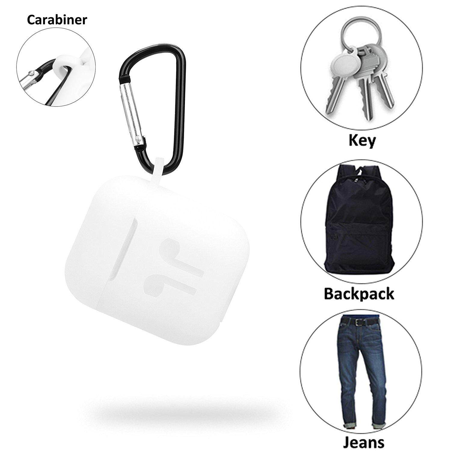 check ราคา หูฟัง SLGOL [5 Pack ] Airpods Case, Airpods Strap, Airpods Ear Hooks, Airpods Silicone Protective Cover with Earphone Sports Anti-lost Strap with Silicone Protective Earhooks, Airpods Replacement Accessories - intl ดีจริง ๆ