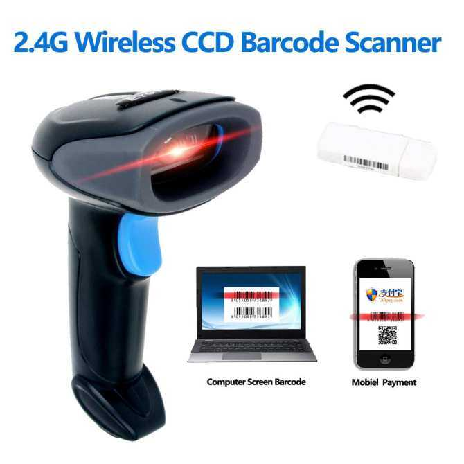 Chunzao HJ-D90T 2.4GHz Wireless CCD Barcode Scanner Handheld Bar-code Reader Rechargeable Bar Code For Windows Mobile Payment