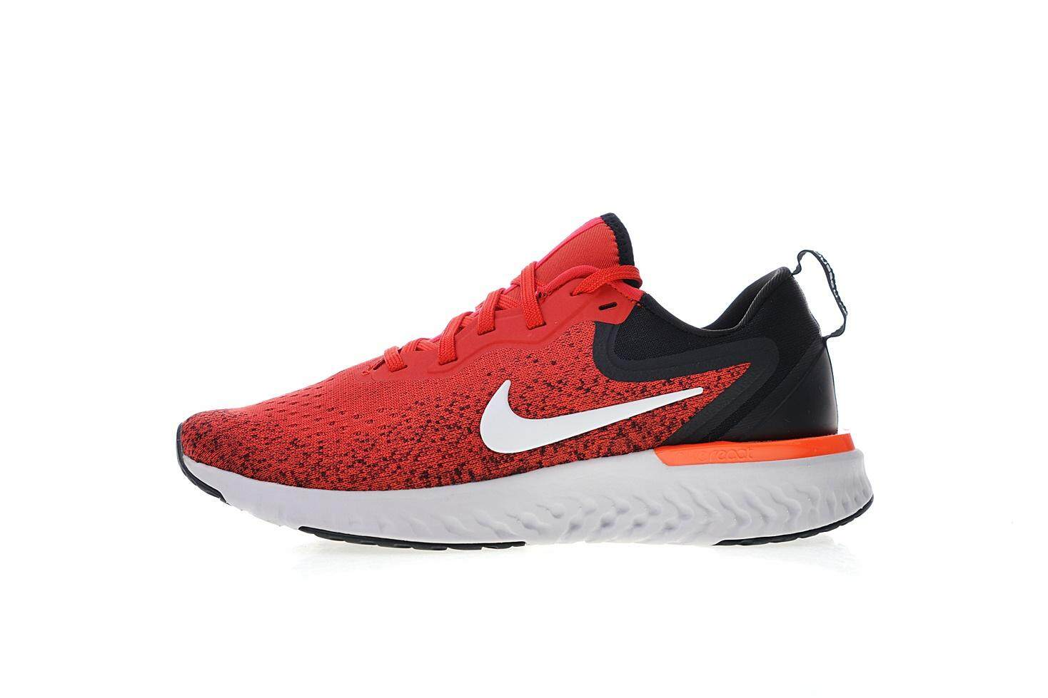 Nike Epic React Flyknit Men s Comfortable Running Sneaker Fashion Casual  Sport Shoes (Red Black 94383609af