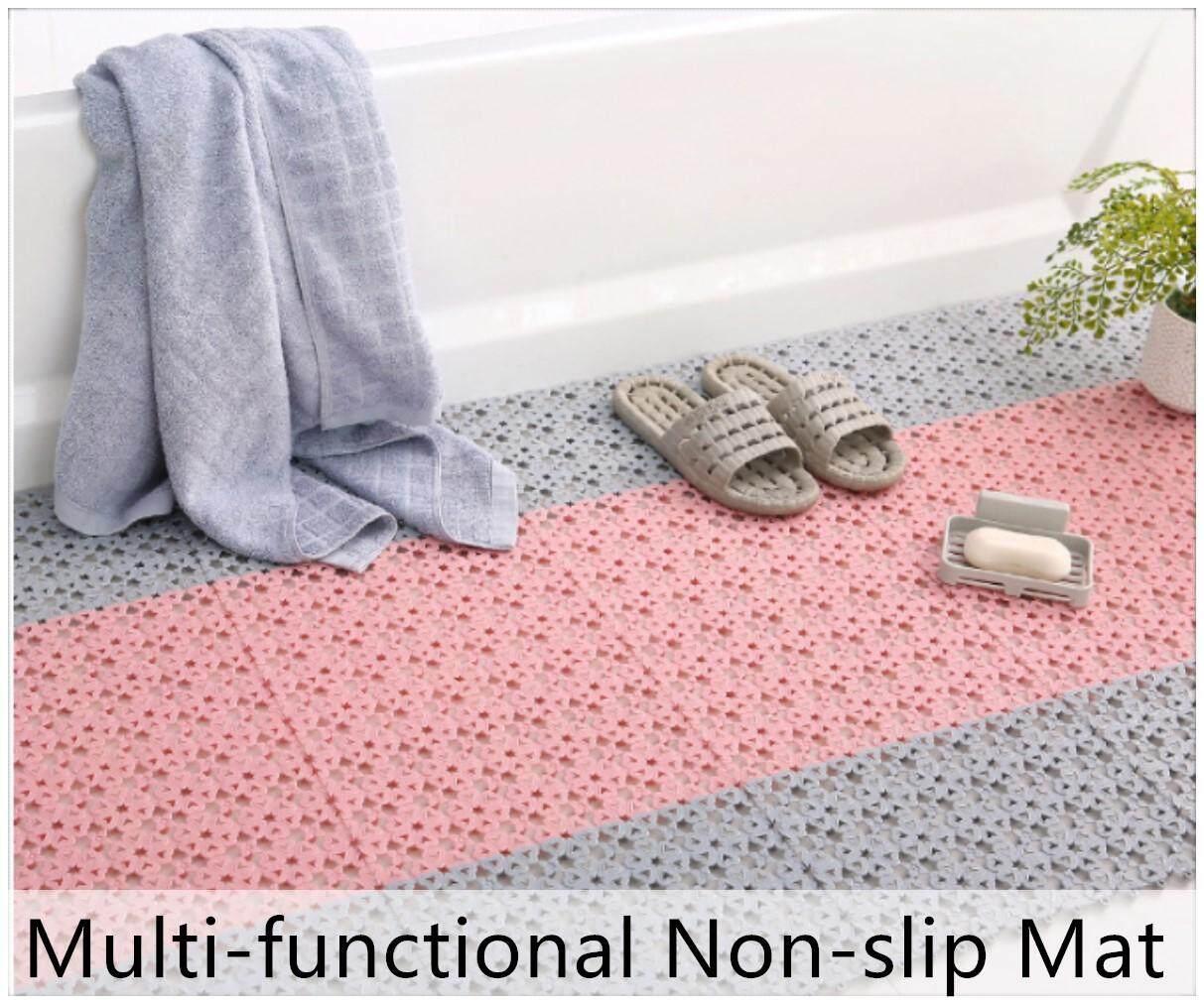 10pcs Floor Mat Non Slip Bathroom Mats Toilet Washroom Pad Rugs Anti Skid Flexible Mat Lazada Singapore