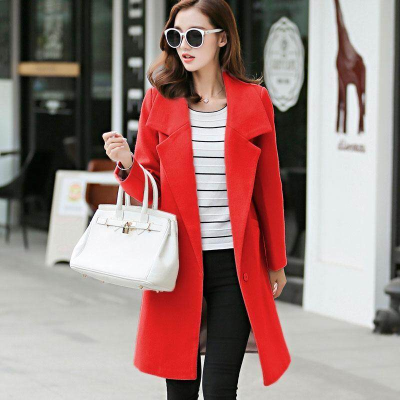 ad3bbbb3a3d Caidaifei 2018 Autumn And Winter New Style Korean Style Woolen Jacket Slim  Fit Slimming Large Size