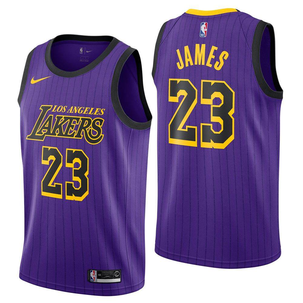 13c35a1ca NBA Los Angeles Lakers Num 23 Basketball Clothes For Male LeBron James  Swingman Jersey Team Color