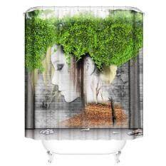 leegoal Shower Curtain Window Curtains 3D Digital Printing Waterproof Shower Curtain Bathroom Living Room Bedroom Creative-Polyester,150x180cm