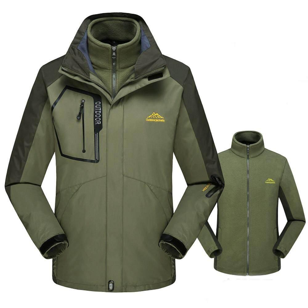 Featured Pria Fleece Liner Outdoor Ukuran Plus Hoodie Dua Sepotong Set  Olahraga Serangan Mantel 24decc3199