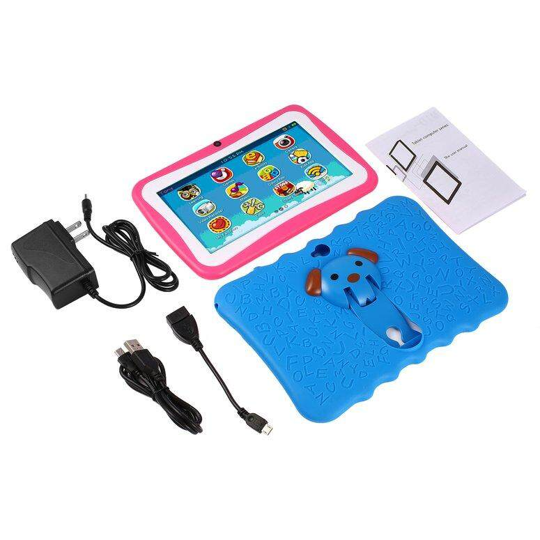 LIFEF 7 Inch Quad Core Children Learning Tablet PC 512MB RAM+8GB ROM for Android 4.4