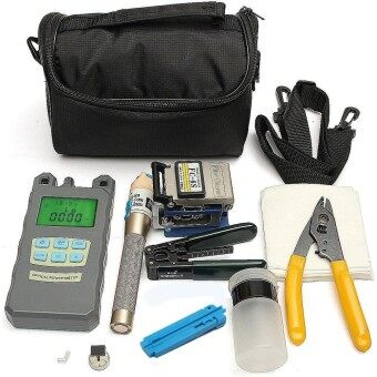 【Free Shipping +Global Collection】Fiber Optic FTTH Tool Kit with FC-6S Cleaver Optical Power Meter Visual Finder