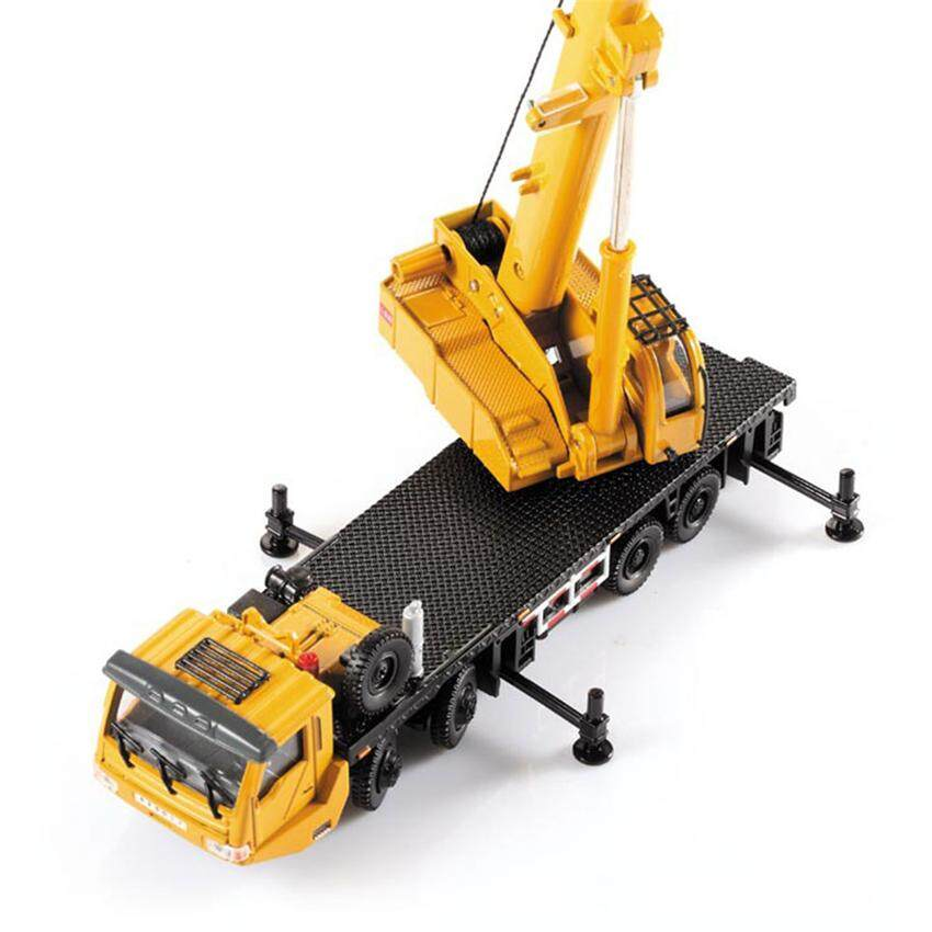 2019 Best Quality Alloy Engineering Vehicle Material Handling Vehicle Heavy Cranes Manipulator Arm Telescopic Boom Rotation Car Model Toys(yellow) image on snachetto.com