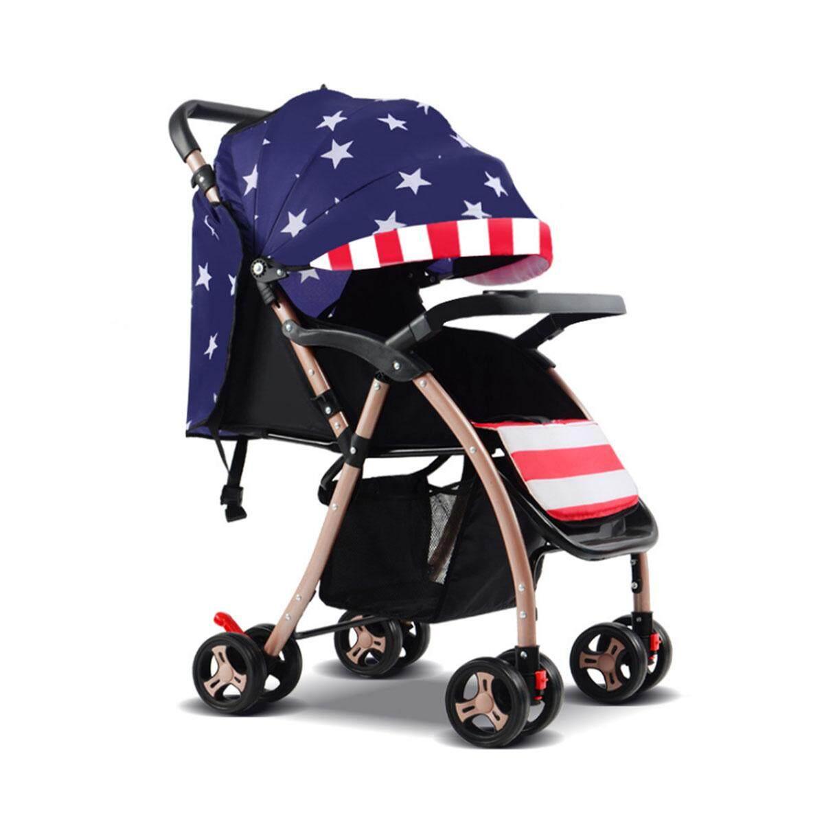 ลดล้างสต๊อกส่งท้ายปี Unbranded/Generic รถเข็นเด็กแบบนอน ทารกแรกเกิดน้ำหนักเบาพับรถเข็นเด็ก Prams รถเข็นเด็ก Travel Carry On - INTL มีของแถม