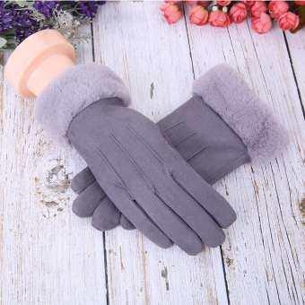 Coconie ผู้หญิงถุงมือหนังสติ๊กในฤดูใบไม้ร่วงและกันลมหนาวอบอุ่น PLUS ถุงมือกำมะหยี่-