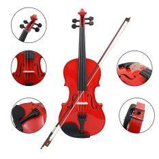 1/4 Size Violin Fiddle Basswood Steel String Arbor Bow For Beginners B5O5 Red – intl