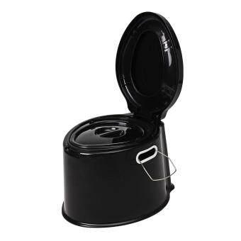 การส่งเสริม Portable Toilet Compact Potty Loo Indoor Travel Camping Picnic Fishing Commode# Black ซื้อที่ไหน - มีเพียง ฿320.00