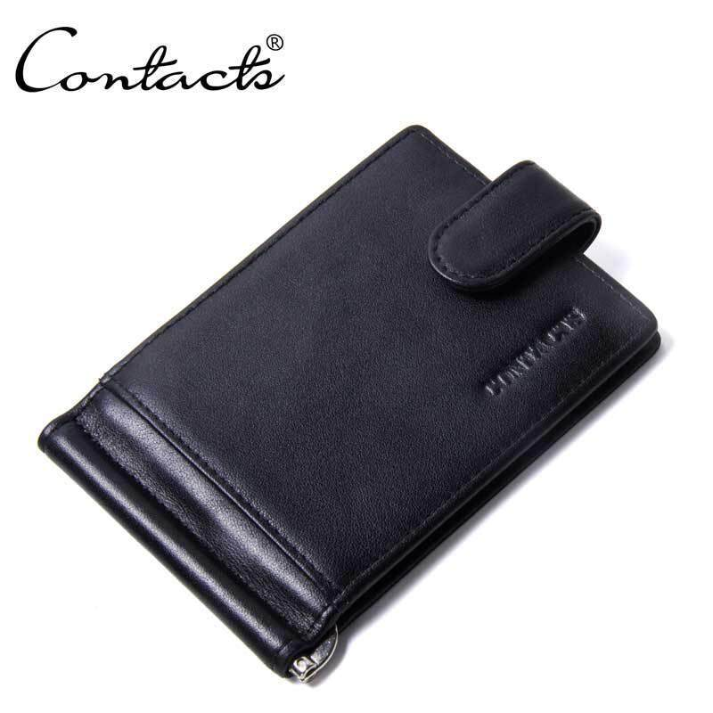 Pacento vintage man hasp short wallets money clip Zipper holder bifold Wallets new style Genuine leather Wallet simple pure color wallet