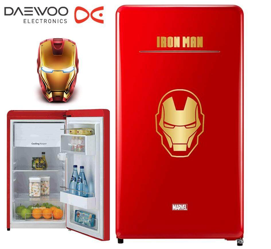 [Limited Edition] DAEWOO Korea Marvel Series FN-M125IM(Iron Man) 125L Classic 1 Door Fridge/Refrigerator