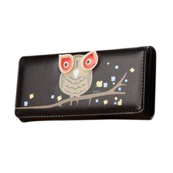 JOJO Fashion Clutch Checkbook Change Coin Bag Black - Intl