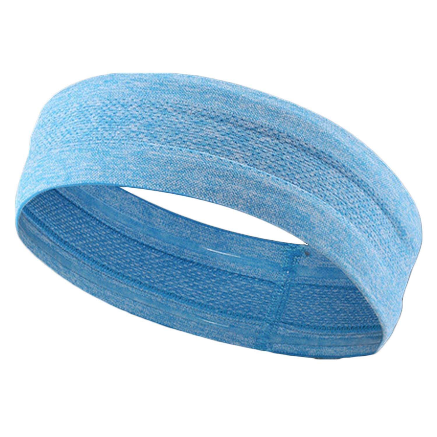 Elastic Stretch Non Slip Moisture Wicking Sports Headband Sweatband Head bands for Men Women Yoga Running Cycling Tennis Workout (Blue/Black/Grey/Rose) - intl