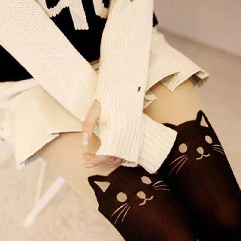 f1a4e2ba4 Kitten Print Knee High Length Socks CAT Tail Tattoo Tights Pantyhose  Stockings | Lazada PH