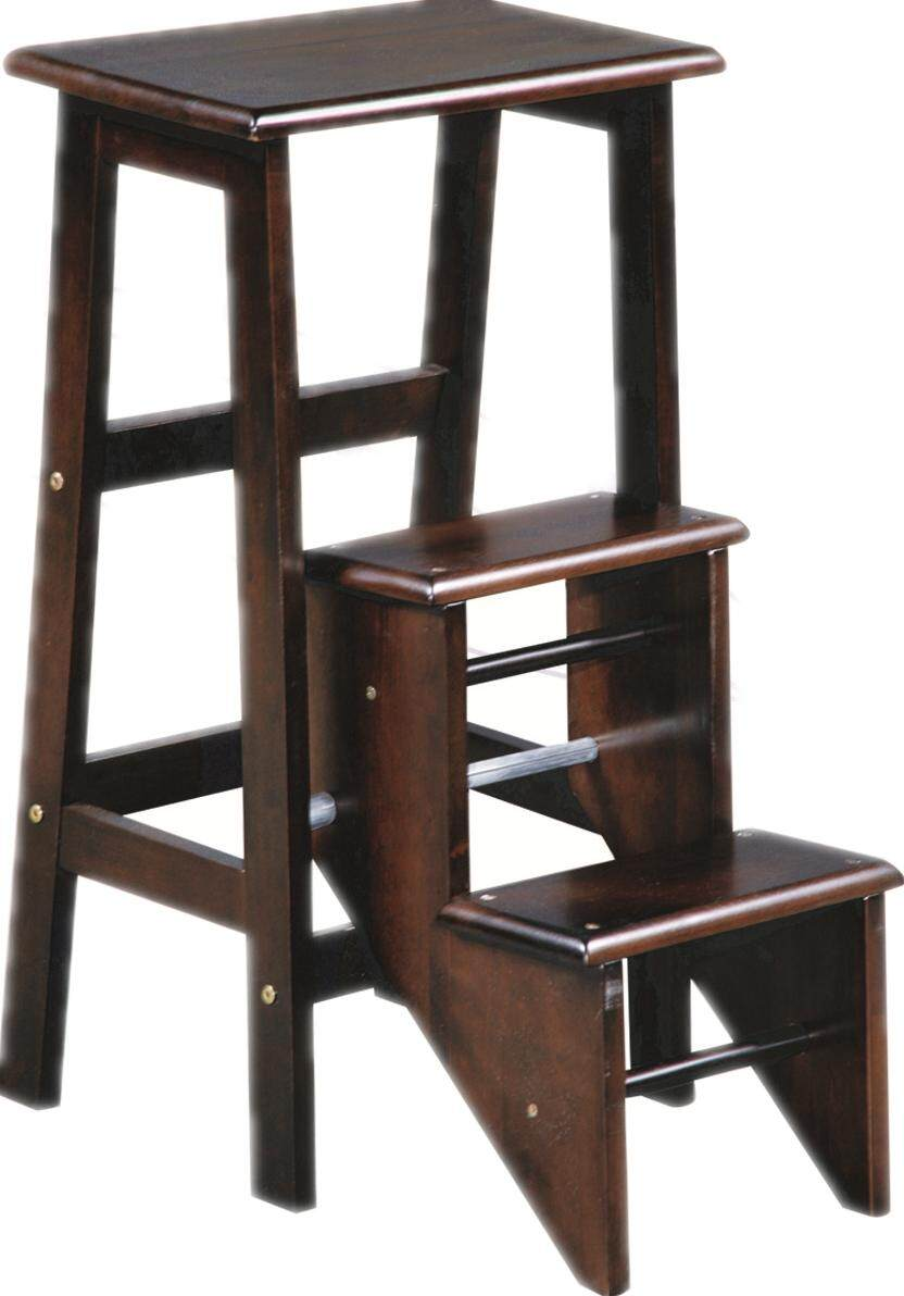 Solid Wood Step Stool /Folding Ladder
