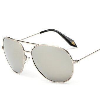 ZUNCLE Unisex Retro UV400 Sunglasses Sunscreen Glasses(Silver)