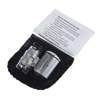 DOIT 60X ซูมกล้องจุลทรรศน์แอลอีดีไมโครเลนส์ใหม่เงินกล้องตาเดียวแบบพกพากล้องจุลทรรศน์-