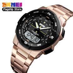 Đồng hồ thể thao SKMEI 1370 cho nam đồng hồ đeo tay kỹ thuật số đa năng bằng thép không gỉ chống nước thời trang thường ngày – INTL