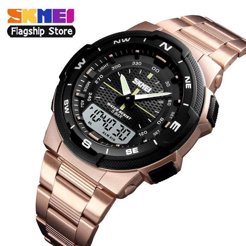 Đồng hồ thể thao SKMEI 1370 cho nam đồng hồ đeo tay kỹ thuật số đa năng bằng thép không...