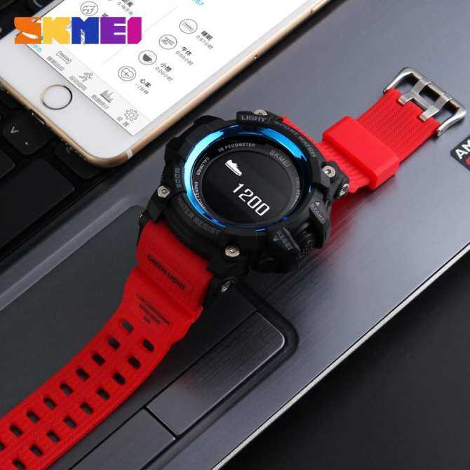 SKMEI Men Sport Smart Watches Bluetooth Pedometer Calories Heart Rate  Fashion Outdoor Waterproof Man Digital Wristwatches 85c6640f48