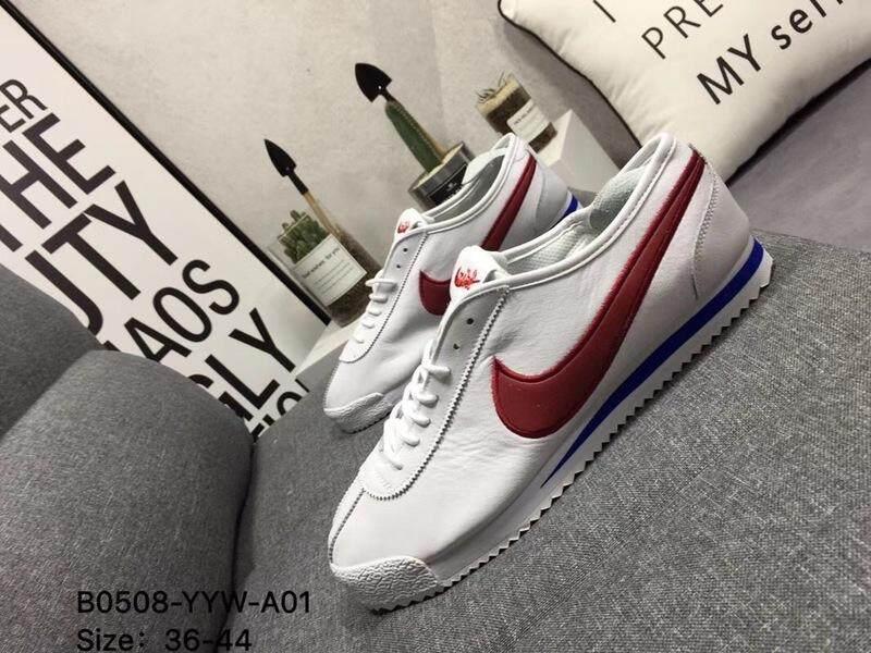 WMNS Nike Cortez '72 Men's Women's Sports Running Shoe Classic Casual Sneakers (White/Red)