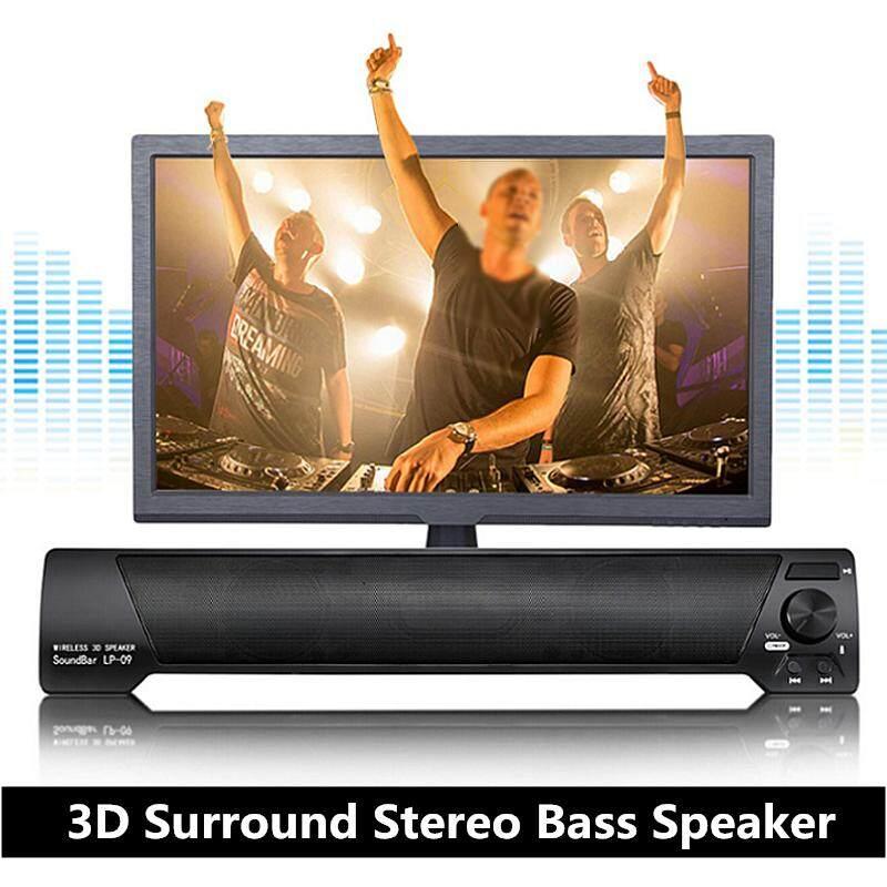 LP-09 bluetooth Không Dây 3D Bao Quanh Nhà Hát Soundbar Bass Loa Máy Tính Bảng Màu Đen-quốc tế
