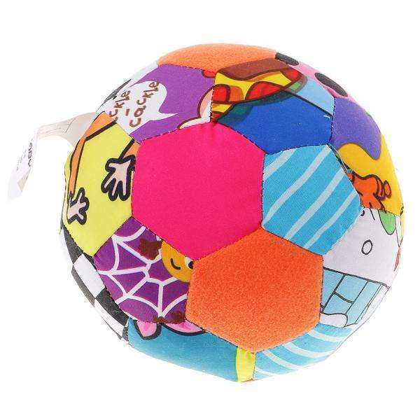 MagiDeal Bright-colored Bell Rocking Bar Baby Plush Education Toy Bell Cloth Ball