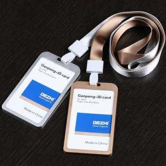 ของแท้ Dezhi โลหะผสมอลูมิเนียมป้ายบวก 15mm เชือกแขวนโลหะบัตรพนักงานกระเป๋าเอกสารที่แขวนบัตรป้ายสินค้า